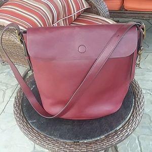 Fossil Haven bucket bag in maroon
